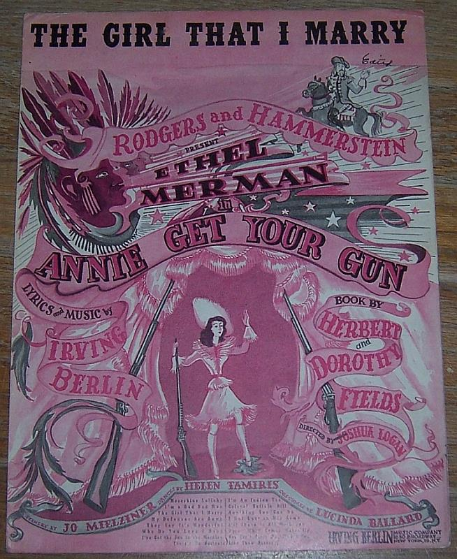 GIRL THAT I MARRY, Sheet Music