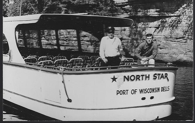 REAL PHOTO POSTCARD OF NORTH STAR, PORT OF WISCONSIN DELLS, WISCONSIN, Postcard