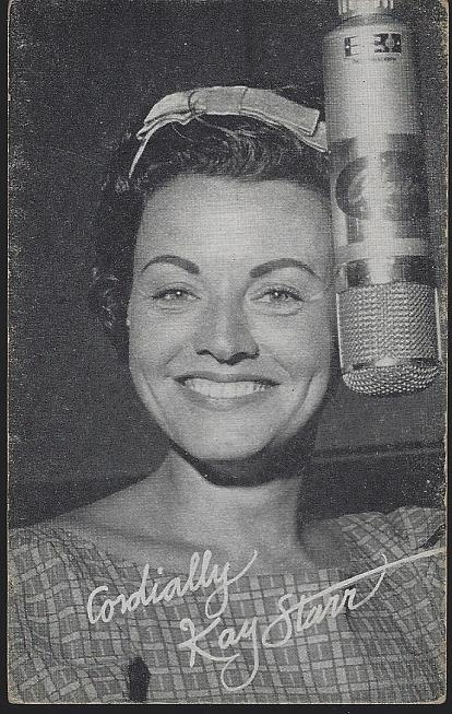 ARCADE CARD OF KAY STARR, Arcade Card