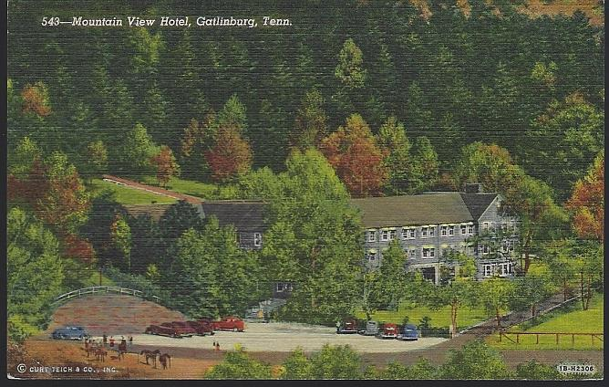 MOUNTAIN VIEW HOTEL, GATLINBURG, TENNESSEE, Postcard