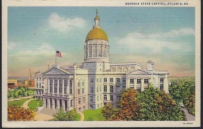 GEORGIA STATE CAPITOL, ATLANTA, GEORGIA, Postcard