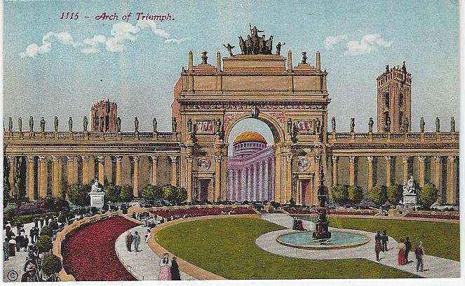 ARCH OF TRIUMPH, PANAMA-PACIFIC INTERNATIONAL EXPOSITION, SAN FRANCISCO, CALIFORNIA, Postcard