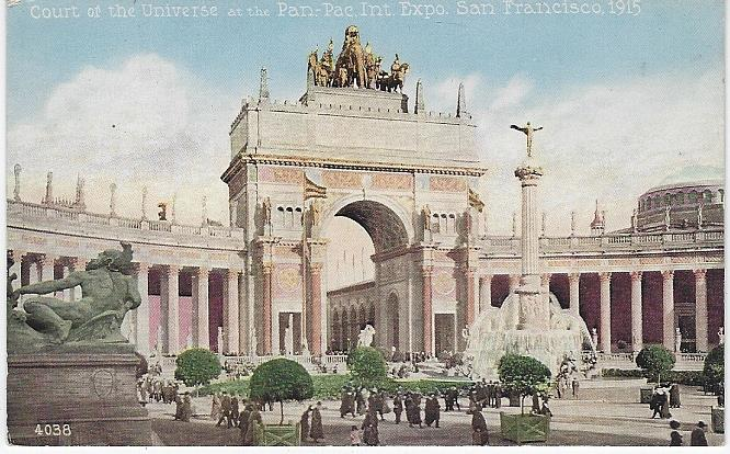 COURT OF THE UNIVERSE, PANAMA-PACIFIC INTERNATIONAL EXPOSITION, SAN FRANCISCO, CALIFORNIA, Postcard