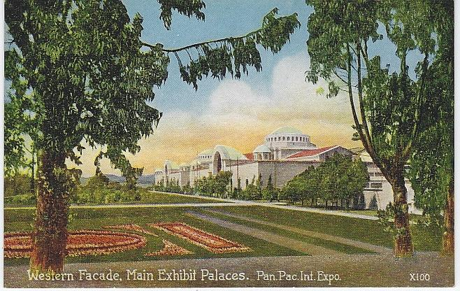 WESTERN FACADE, MAIN EXHIBIT, PANAMA-PACIFIC INTERNATIONAL EXPOSITION, SAN FRANCISCO, CALIFORNIA, Postcard