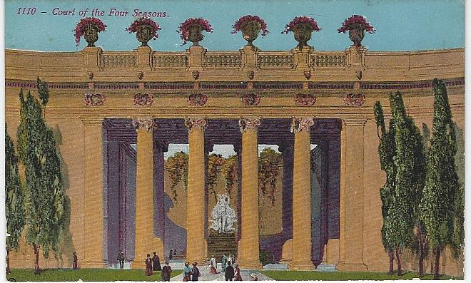 COURT OF THE FOUR SEASONS, PANAMA-PACIFIC INTERNATIONAL EXPOSITION, SAN FRANCISCO, CALIFORNIA, Postcard