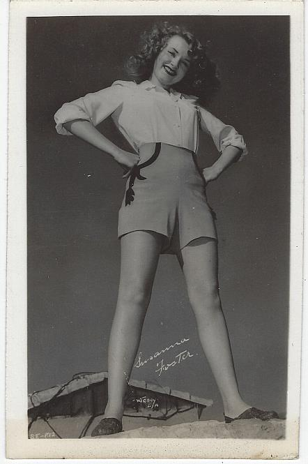 REAL PHOTO POSTCARD OF ACTRESS SUSANNA FOSTER, Postcard