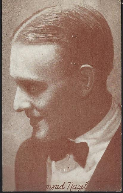 POSTCARD OF ACTOR CONRAD NAGEL, Postcard