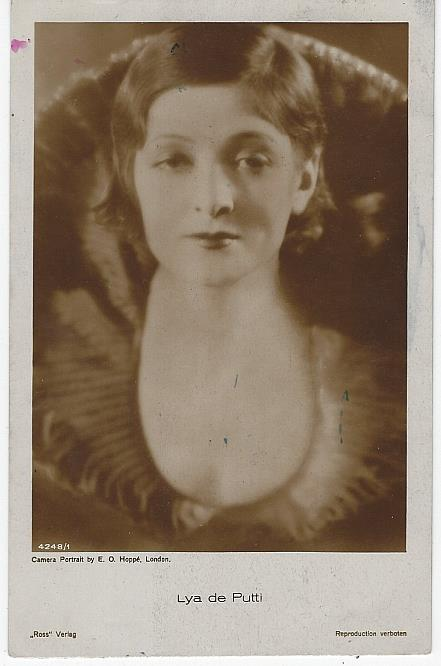 REAL PHOTO POSTCARD OF ACTRESS LYA DE PUTTI, Postcard