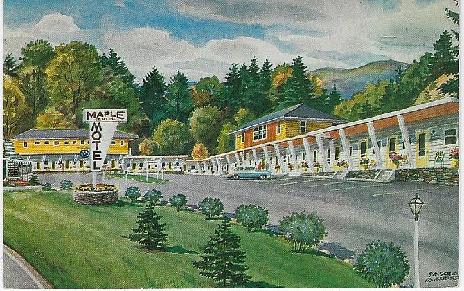 MAPLE CENTER MOTEL, ST. JOHNSBURY, VERMONT, Postcard