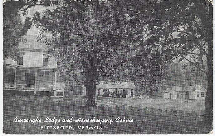BURROUGHS LODGE AND HOUSEKEEPING CABINS, PITTSFORD, VERMONT, Postcard