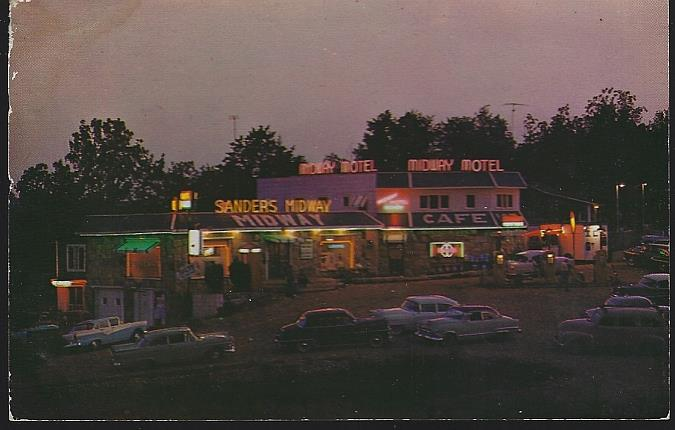 SANDERS' MIDWAY SHOPPING CENTER, SUNRISE BEACH, MISSOURI, Postcard