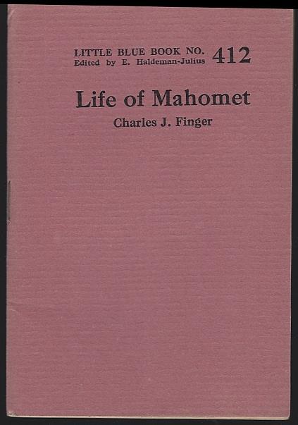 LIFE OF MAHOMET, Finger, Charles