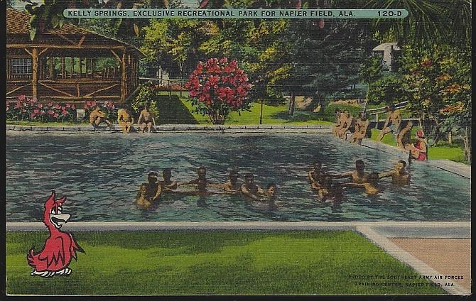 KELLY SPRINGS, EXCLUSIVE RECREATIONAL PARK FOR NAPIER FIELD, ALABAMA, Postcard