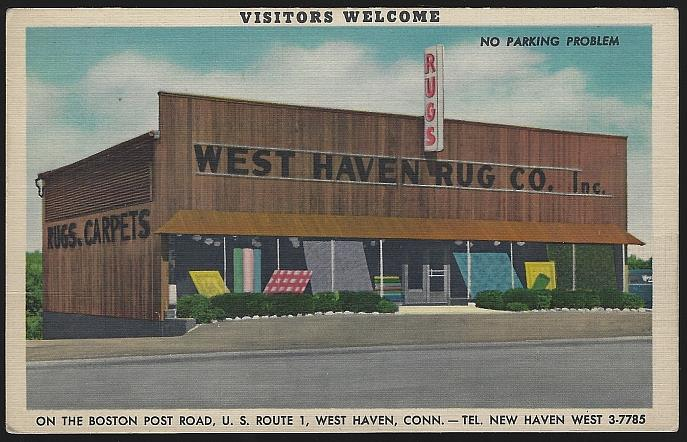 WEST HAVEN RUG CO., WEST HAVEN, CONNECTICUT, Postcard