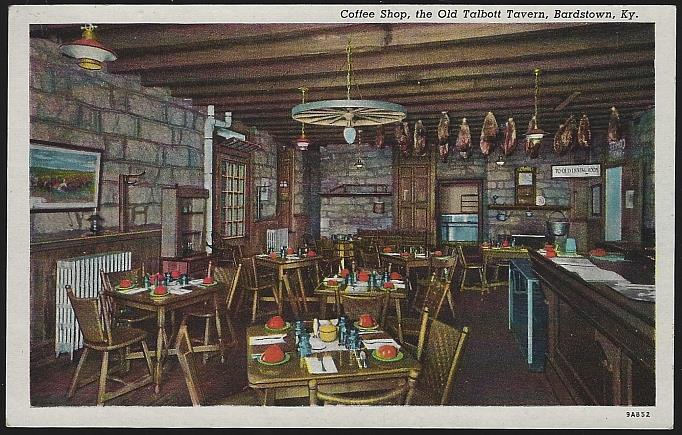 COFFEE SHOP, THE OLD TALBOTT TAVERN, BARDSTOWN, KENTUCKY, Postcard