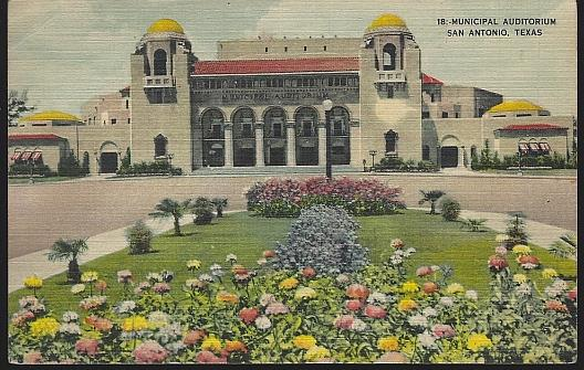 MUNICIPAL AUDITORIUM, SAN ANTONIO, TEXAS, Postcard