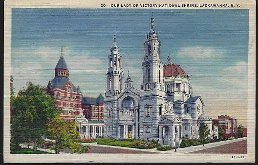 OUR LADY OF VICTORY NATIONAL SHRINE, LACKAWANNA, NEW YORK, Postcard