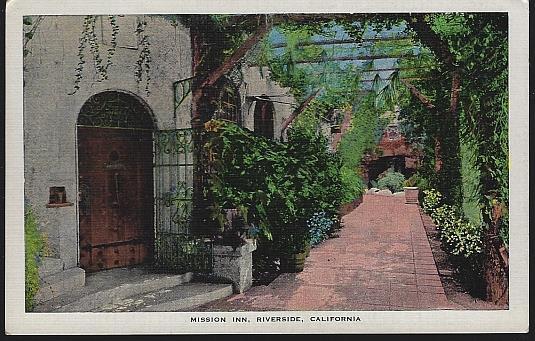 MISSION INN, RIVERSIDE, CALIFORNIA, Postcard