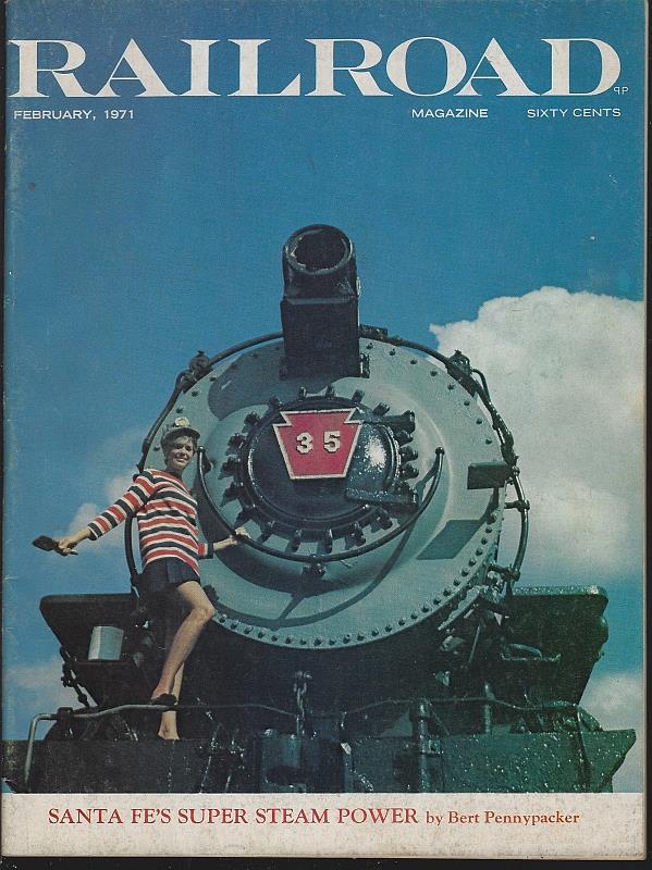 Image for RAILROAD MAGAZINE, ADVENTUROUS RAILROADING AND RAIL HOBBIES, FEBRUARY 1971