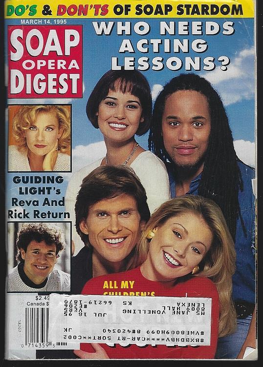 SOAP OPERA DIGEST - Soap Opera Digest March 14, 1995