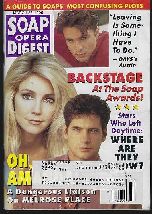 SOAP OPERA DIGEST MARCH 28, 1995, Soap Opera Digest