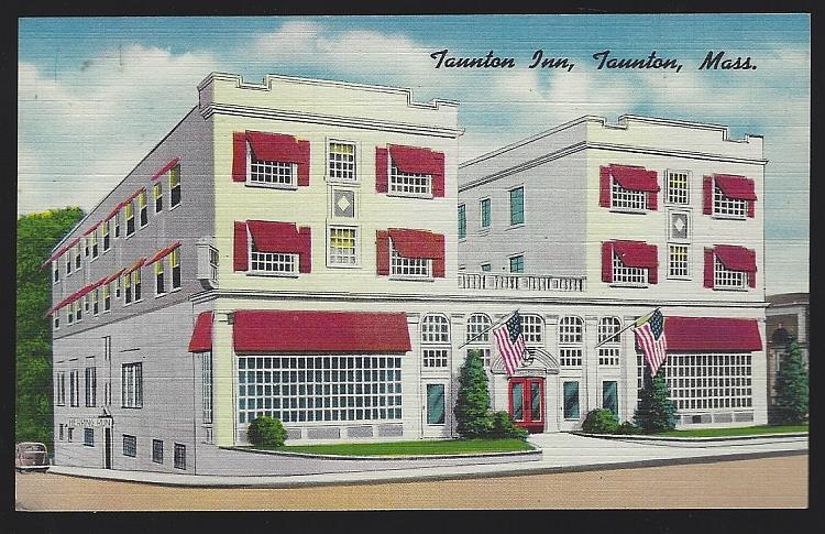 TAUNTON INN, TAUNTON, MASSACHUSETTS, Postcard