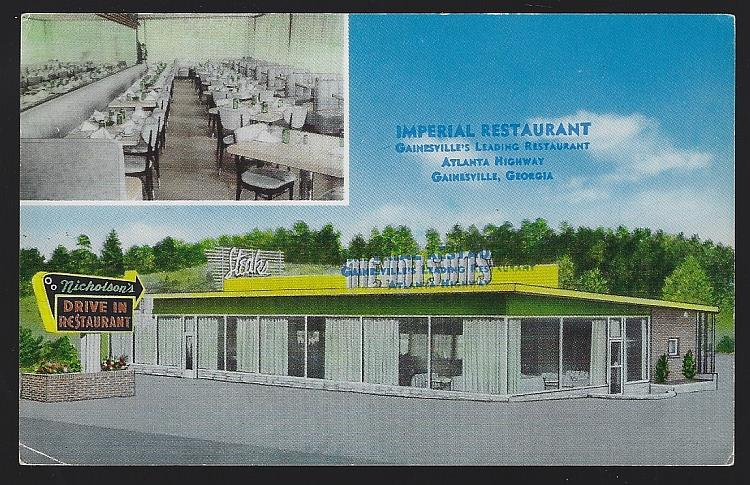 IMPERIAL/NICHOLSON'S RESTAURANT, GAINESVILLE, GEORGIA, Postcard