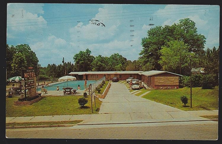 TALBOTTON MOTEL, TALBOTTON, GEORGIA, Postcard