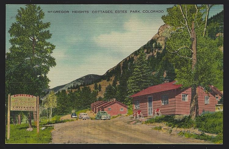MCGREGOR HEIGHTS COTTAGES, ESTES PARK, COLORADO, Postcard