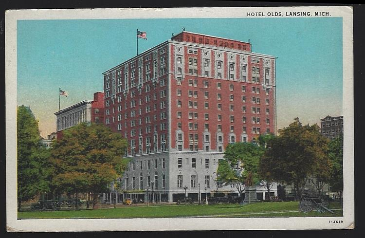 HOTEL OLDS, LANSING, MICHIGAN, Postcard