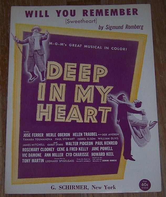 WILL YOU REMEMBER (SWEETHEART), Sheet Music