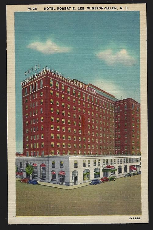 HOTEL ROBERT E. LEE, WINSTON-SALEM, NORTH CAROLINA, Postcard