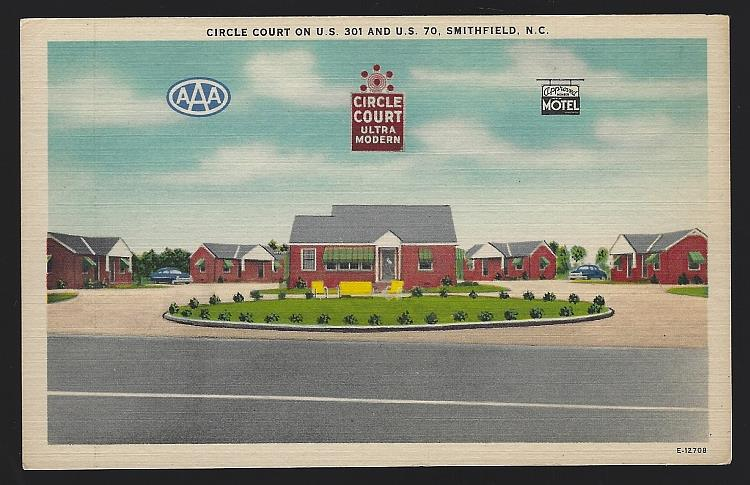 CIRCLE COURT, SMITHFIELD, NORTH CAROLINA, Postcard
