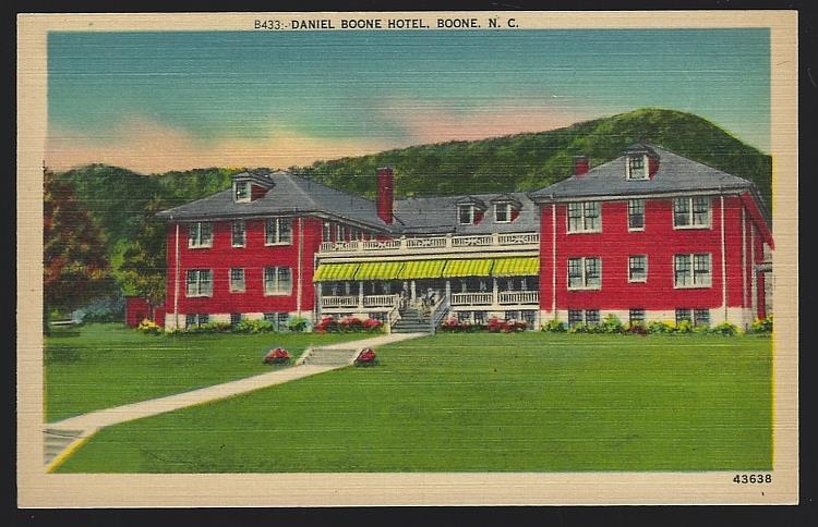 DANIEL BOONE HOTEL, BOONE, NORTH CAROLINA, Postcard