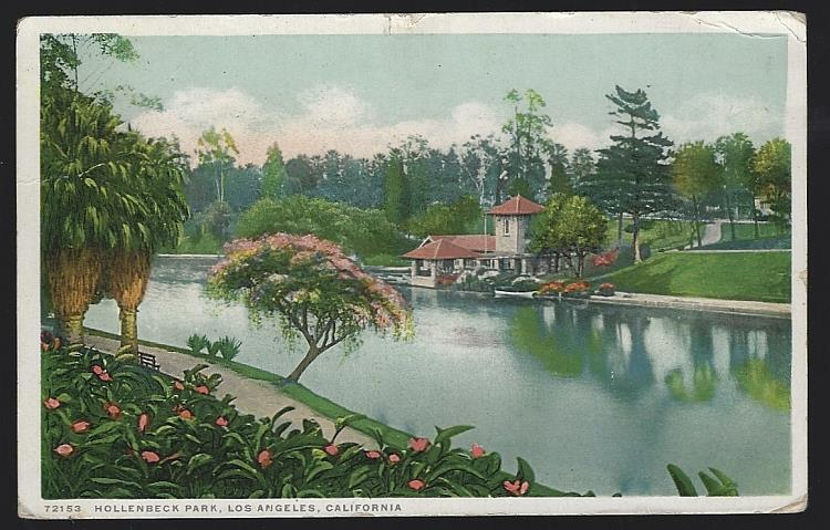 HOLLENBECK PARK, LOS ANGELES, CALIFORNIA, Postcard