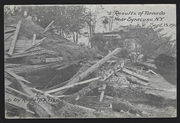 RESULTS OF TORNADO NEAR SYRACUSE, NEW YORK, SEPTEMBER 15, 1912, Postcard