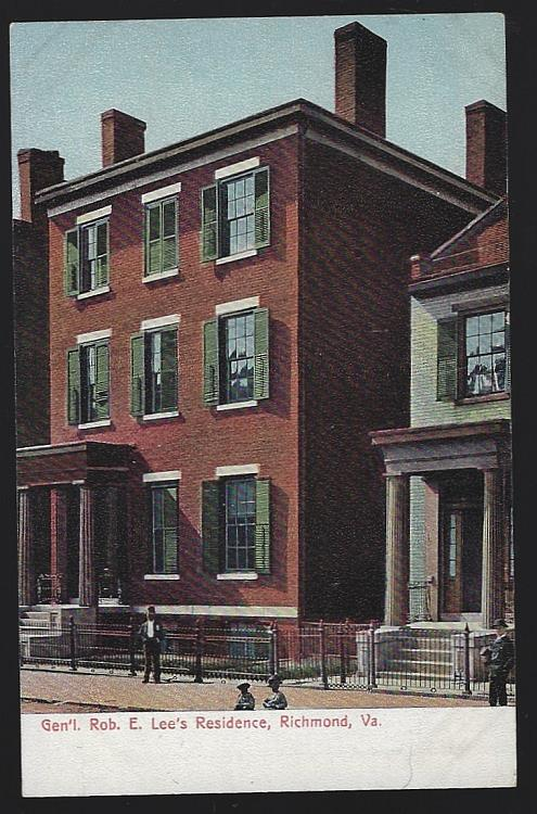 GENERAL ROBERT E. LEE'S RESIDENCE, RICHMOND, VIRGINIA, Postcard