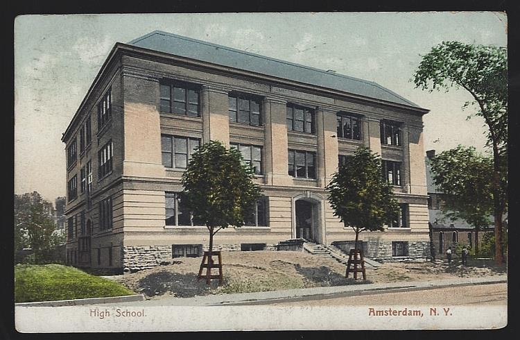 HIGH SCHOOL, AMSTERDAM, NEW YORK, Postcard