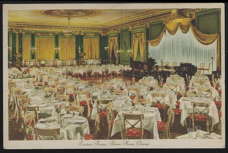 POSTCARD - Empire Room, Palmer House, Chicago, Illinois