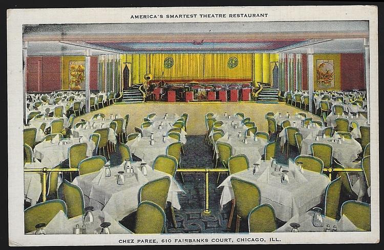 CHEZ PAREE, CHICAGO, ILLINOIS, Postcard