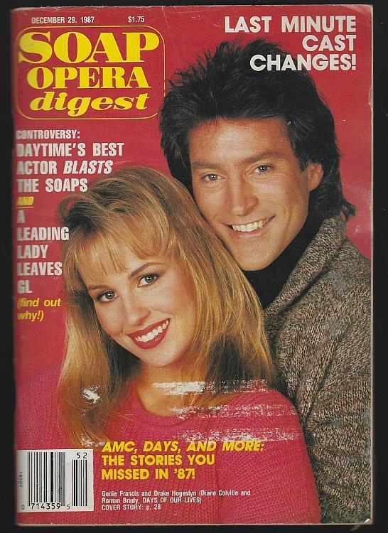 SOAP OPERA DIGEST DECEMBER 29, 1987, Soap Opera Digest