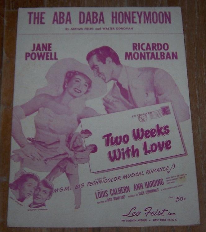 ABA DABA HONEYMOON, Sheet Music