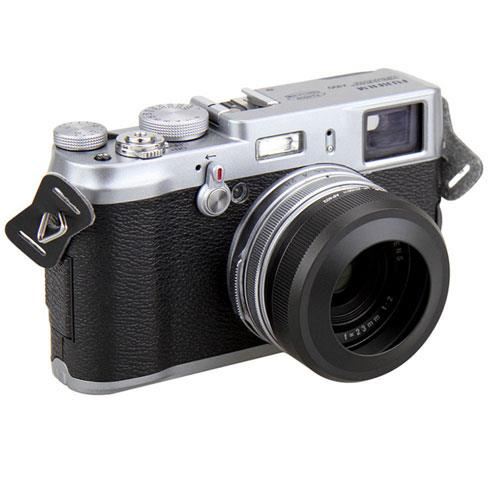 Black Lens Hood Adapter Ring F Fuji X100 X100s Rep Lh