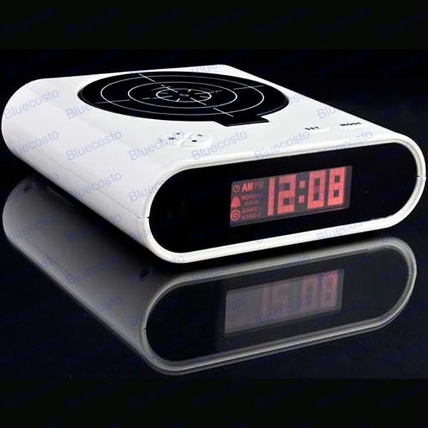 Gun Alarm Clock Target Wake Up Shooting Game Toy Novelty: Novelty White Laser Target Gun Alarm Waken Desk Clock