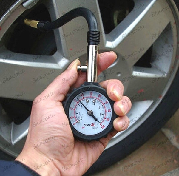 auto vehicle car tyre tire air pressure gauge 0 100 psi dial meter tester ebay. Black Bedroom Furniture Sets. Home Design Ideas