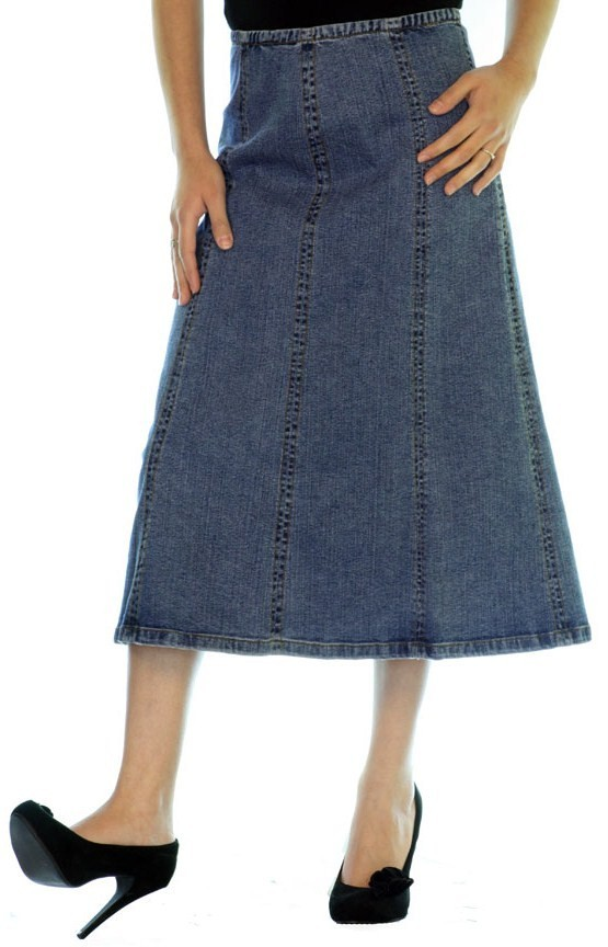 Denim Maxi Skirt Long Jean Skirt with Pockets Modest Skirt ... |Western Long Denim Skirts Modest