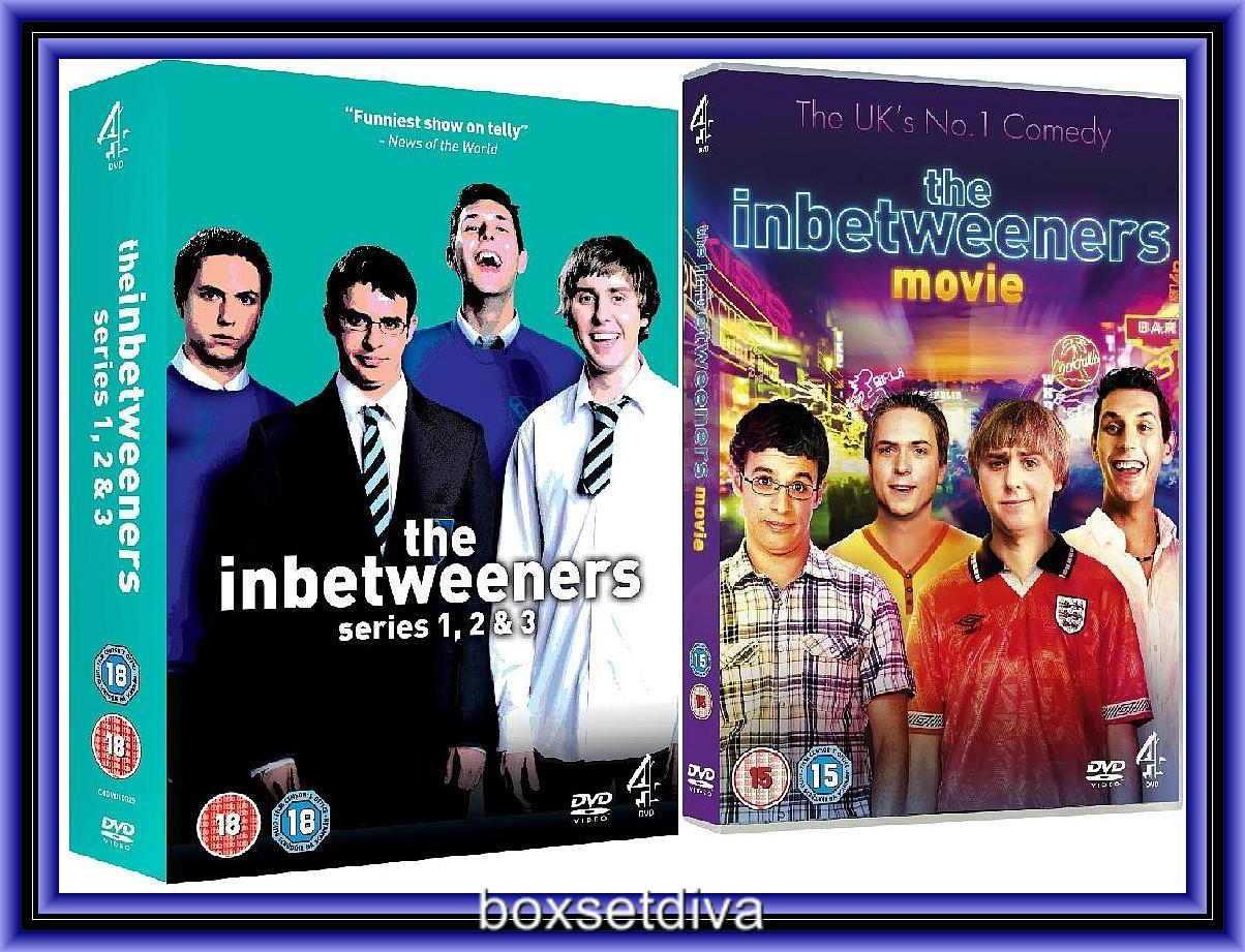 Details about THE INBETWEENERS COMPLETE SERIES 1 2 & 3 PLUS THE MOVIE  *BRAND NEW DVD**