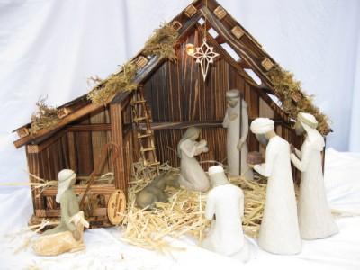 Woodtopia Nativity Stable Medium Willow Tree Ebay