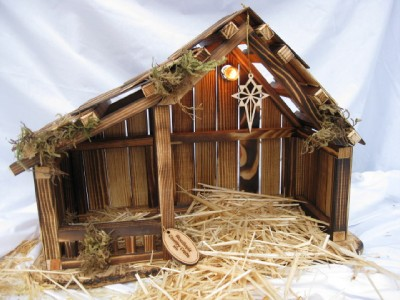Woodtopia Nativity Stable Small Ebay
