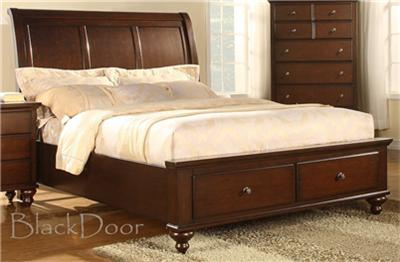 Ashley Queen Sleigh Bed With 2 Large Storage Drawers Ebay